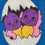Just Crafty Easter Egg sand art