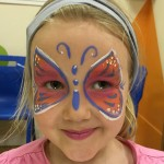 Just Crafty face painting butterfly isabelle facepainting