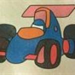 Just Crafty parties Racing car