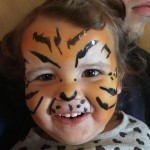 Just Crfty kids club face painting tiger facepainting